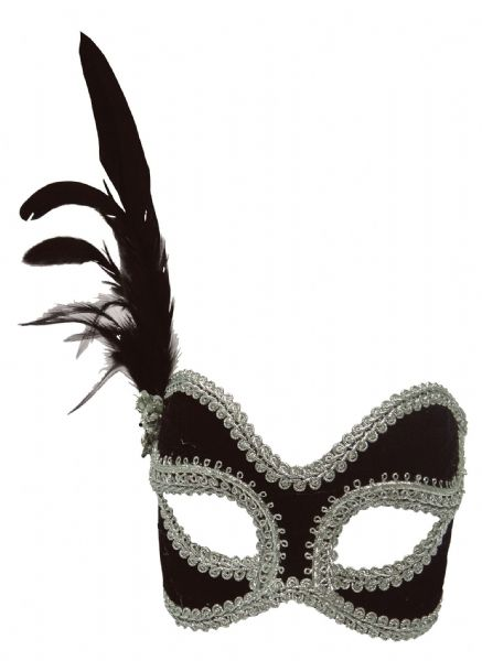 Black/Silver Female Eyemask Masquerade Ball Eye-Mask Eye Mask Fancy Dress